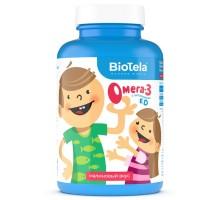 Омега-3 BioTela детская витамин Е-витамин Д-малина 120капсул