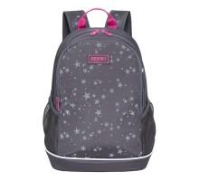 Рюкзак школьный Grizzly Звезды Темно-серый