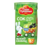 Cок Сады Придонья яблоко-ежевика 0.125л с 6месяцев