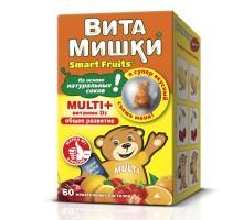 Комплекс витаминов ВитаМишки Multi+йод+холин жевательные пастилки 60шт