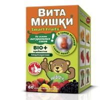 Комплекс витаминов ВитаМишки Bio+ пребиотик жевательные пастилки 60шт
