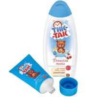 Набор подарочный ТИК-ТАК пенка 350мл и зубная паста 62г с 0месяцев