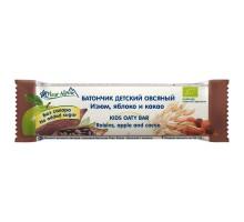 Батончик Fleur Alpine овсяный изюм-яблоко-какао 23г с 3лет