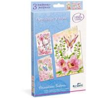 Набор для творчества ORIGAMI Алмазные узоры Волшебные бабочки открытки 3шт