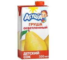 Сок Агуша груша осветленный 0.5л с 3лет