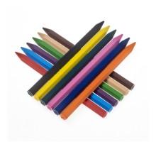 Карандаши Jovi пластиковые шестигранные 12 цветов в коробке с европодвесом