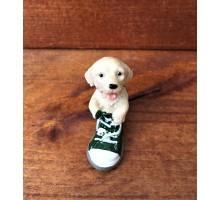 Сувенир собака в зеленом ботинке