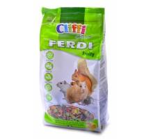 Cliffi корм для хомяков, мышей, белок и песчанок с фруктами, грецкими орехами и морковью