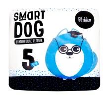 Smart Dog Пелёнки впитывающие пеленки для собак 60х60, 5 шт, 100 г