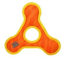 Tuffy супер прочная игрушка для собак Треугольник с круглым отверстием, оранжевый с желтым, прочность 9/10