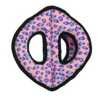 Tuffy супер прочная игрушка для собак Тройное кольцо, розовый леопард, прочность 9/10