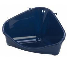 Moderna туалет для грызунов угловой средний, 35х24х18, черничный