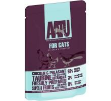 AATU консервы паучи для кошек  с курицей и фазаном, 85 г