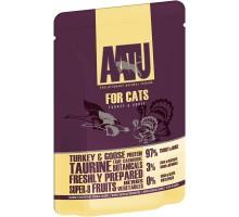 AATU консервы паучи для кошек с индейкой и гусем, 85 г