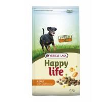Корм Happy Life (Versele-Laga) для собак, со вкусом говядины, 3 кг