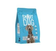 Корм Smart Dog для взрослых собак, с лососем и рисом , 3 кг