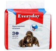 EVERYDAY впитывающие пеленки для животных (гелевые), 30 шт.