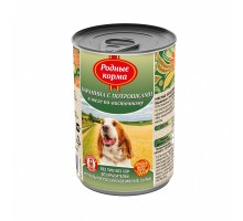 Родные корма консервы для собак, баранина с потрошками в желе по-восточному, 970 г