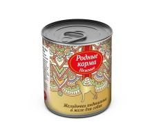 Родные корма консервы для собак, желудочки индюшиные в желе