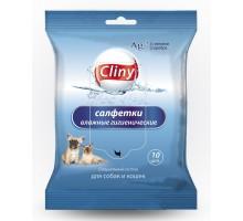 Cliny влажные салфетки, антибактериальные с ионами серебра, 10шт.
