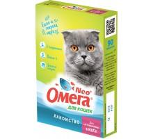 """Фармакс мультивитаминное лакомство Омега Neo+ """"Для кастрированных кошек"""" с L-карнитином для кошек"""