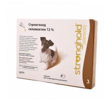 Zoetis  Стронгхолд капли от блох, ушных и чесоточных клещей, гельминтов для собак 5-10 кг, 3 пипетки (коричневые)