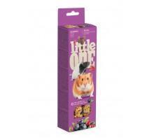 Little One палочки для хомяков, крыс, мышей и песчанок с ягодами, 2х60 г