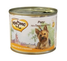 """Мнямс консервы для собак: куриное филе с травами """"Рагу по-ланкаширски"""""""