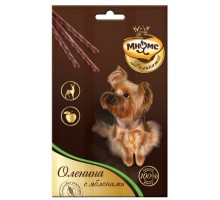 Мнямс лакомые палочки для собак: Деликатес с олениной и яблоком (3х11гр)