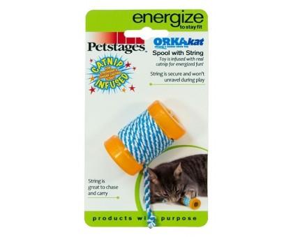 """Petstages игрушка для поддержания здоровья зубов """"ОРКА катушка с веревочкой"""""""