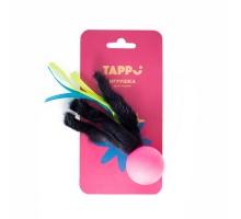 """Tappi """"Нолли"""", мяч с хвостом из натурального меха норки и лент"""