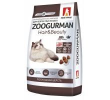 Корм Зоогурман сухой корм для кошек уход за кожей и шерстью, с птицей, 350 г