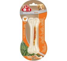 8 в 1 косточка для мелких и средних собак с куриным мясом, 11 см, (сверхпрочная)