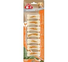 8 в 1 косточки для мелких собак с куриным мясом, 7,5 см, (7 шт, сверхпрочная)