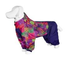 Yami-Yami дождевик для собаки с рисунком  «Квадраты», лаванда, для породы лабрадор