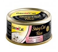 Gimcat консервы для кошек из цыпленка с креветками